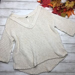 FREE PEOPLE V neck Knitted sweater 3/4 sleeves